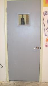 After: Slick Janitor's Closet Door