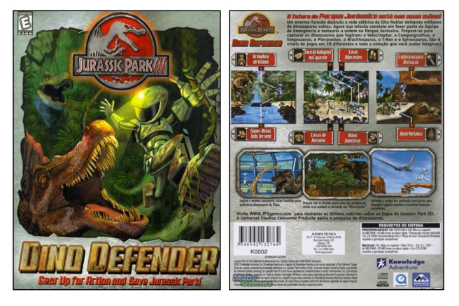 Dino Defender Box Front and Back