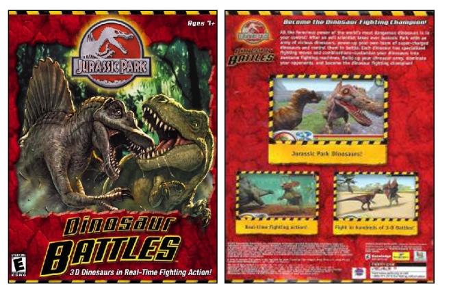 Dinosaur Battles Box Front and Back
